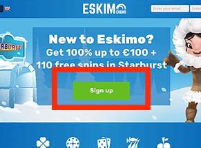 Sign up bij Eskimo
